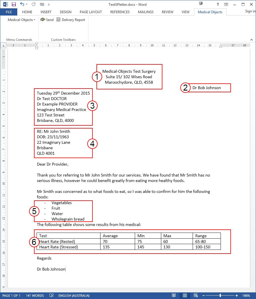 Template guide knowledgebase medical objects knowledgebase the center left or right align tool on the microsoft word toolbar can be used to create your free text header as shown above yelopaper Images